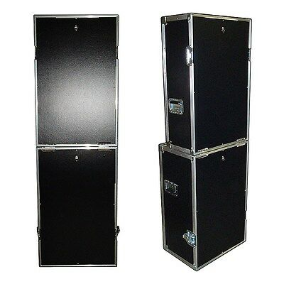'Fold-Up' Photo Booth ATA Case - 'Do It Yourself' Cutouts - Black - Photo Booth Do It Yourself