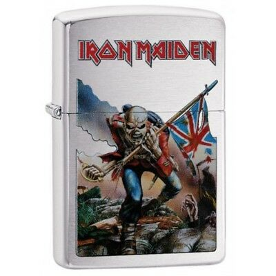 Zippo Iron Maiden Eddie the Head Brushed Chrome