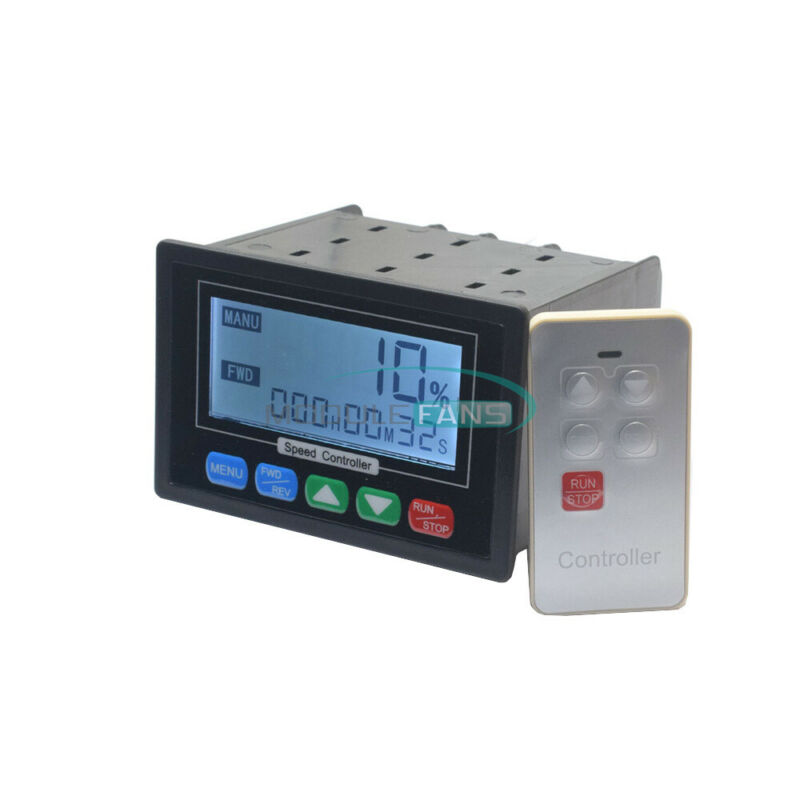 DC10-55V LCD Digital Display PWM DC Motor Speed Controller with Remote Control