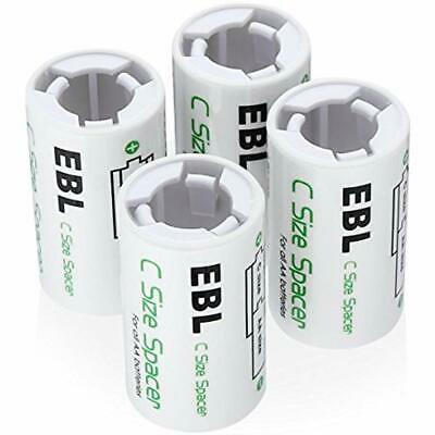 C Size Battery Adapters, AA To Spacer Converter Case Use With Rechargeable Cells
