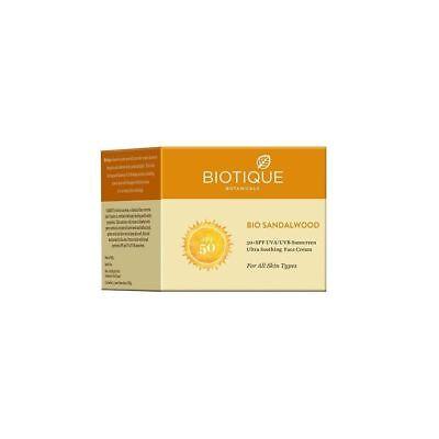Biotique Bio Sandalwood Face   Body Sun Cream Spf 50  Uva Uvb Sunscreen 50 Gm