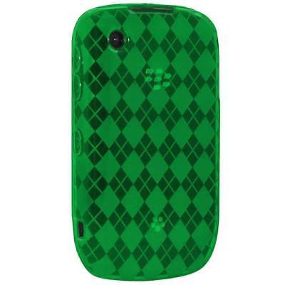 AMZER Luxe Argyle Skin Case Cover For BlackBerry Curve 3G 9300 & 9330 - Green - 3g Luxe Case