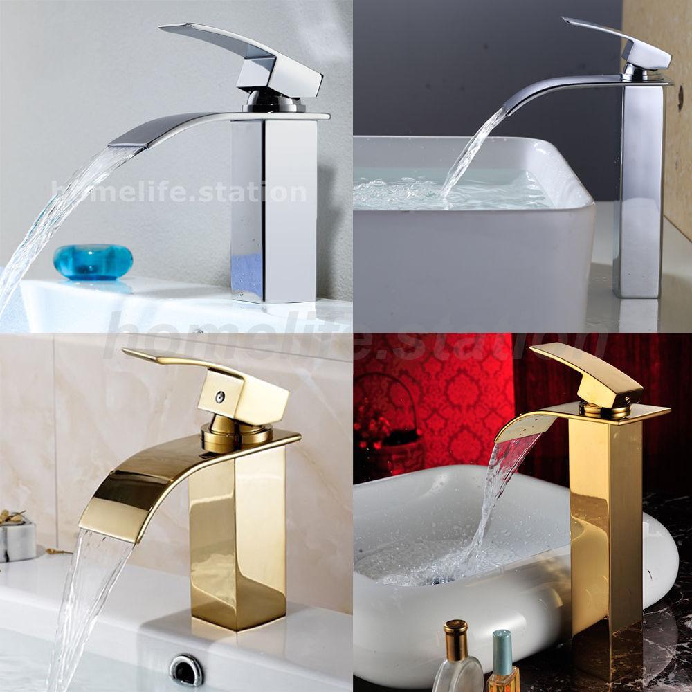 Rubinetteria Rubinetto per lavabo da bagno in ottone cromato lucido / dorato