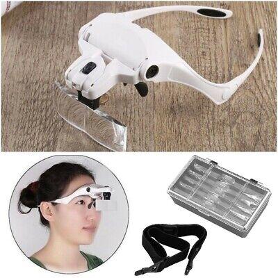 Dentist Loupes Dental Magnifier Glass Surgical Binocular Head Led Medical 5 Lens