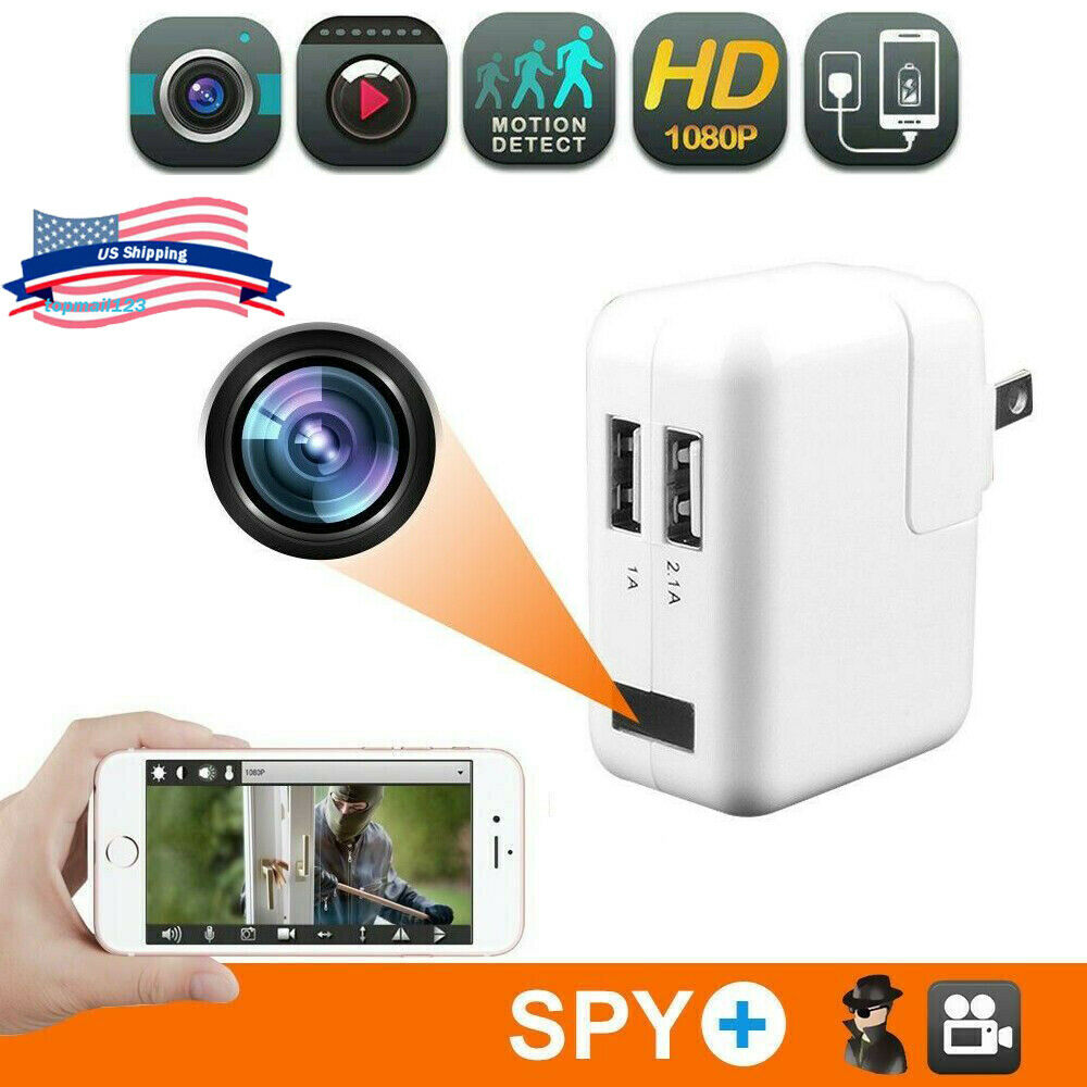 USB Wall Charger 1080P HD Hidden Camera DVR Recorder Motion