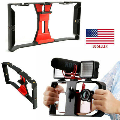 Cell Phone Stabilizer Rig Video Camera Cage Film Steady For iPhone Smartphone US