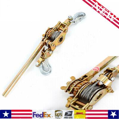 Hot2ton Puller Tightener Come Along Cable Hd Hoist Hook 4400lb Hoist Ratchet Us