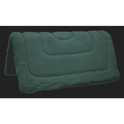 Dark green double faced fleece Western saddle pad w/felt center 31
