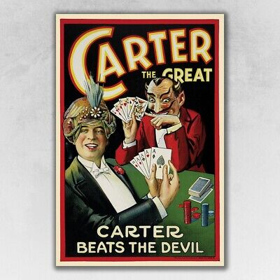 9 X 12 Vintage-Looking Reproduction 1922 Carter Vintage Magic Poster Wall Art - $19.99