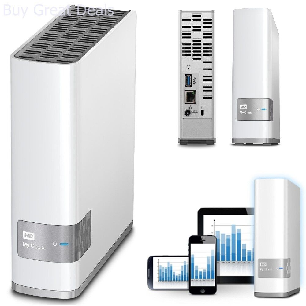 Details about WD Western Digital My Cloud 4TB Personal Storage NAS Network  Attached Hard Drive