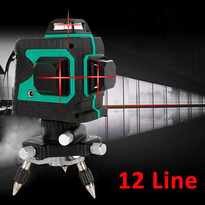 New 3d Red Laser Level Self Leveling 12line 360 Degree Automatic Levelsl Cross