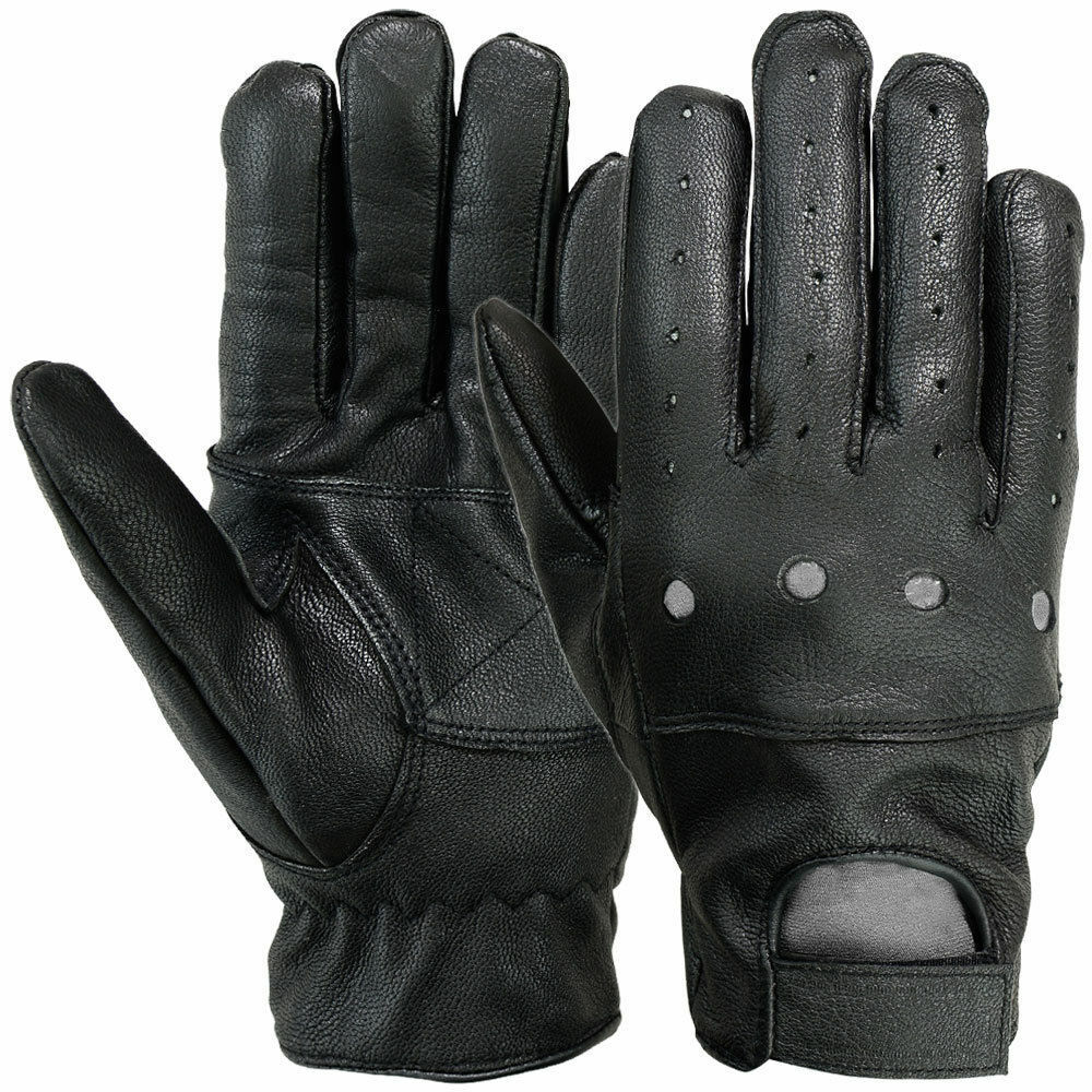 Men Winter Leather Gloves Full Finger Motorcycle Driving Warm Touch Screen Fit