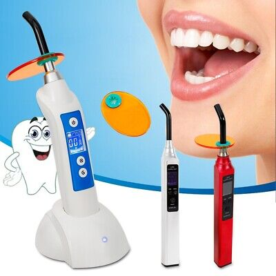 Dentist Dental Led Curing Light Lamp 5w Wireless Cordless 1800mw With Charging