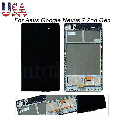 For Asus Google Nexus 7 2nd Gen 2013 LCD Digitizer Touch Screen Replace w/ Frame Asus 7 Screen
