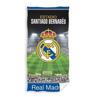 Real Madrid Cf Estadio Toalla Baño Playa Football Club Crest Algodón Grande