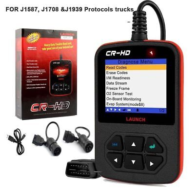 LAUNCH X431 CR-HD OBD Heavy Truck Diagnostic Diesel Duty Code Reader Scanner New