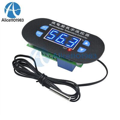 Acdc12v Digital Thermostat Temperature Alarm Controller Sensor Meter Led Blue