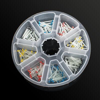 200 pcs Dental Fiber Post Glass Quartz Teeth Restorative 1.2 1.4 1.6 1.8mm Posts