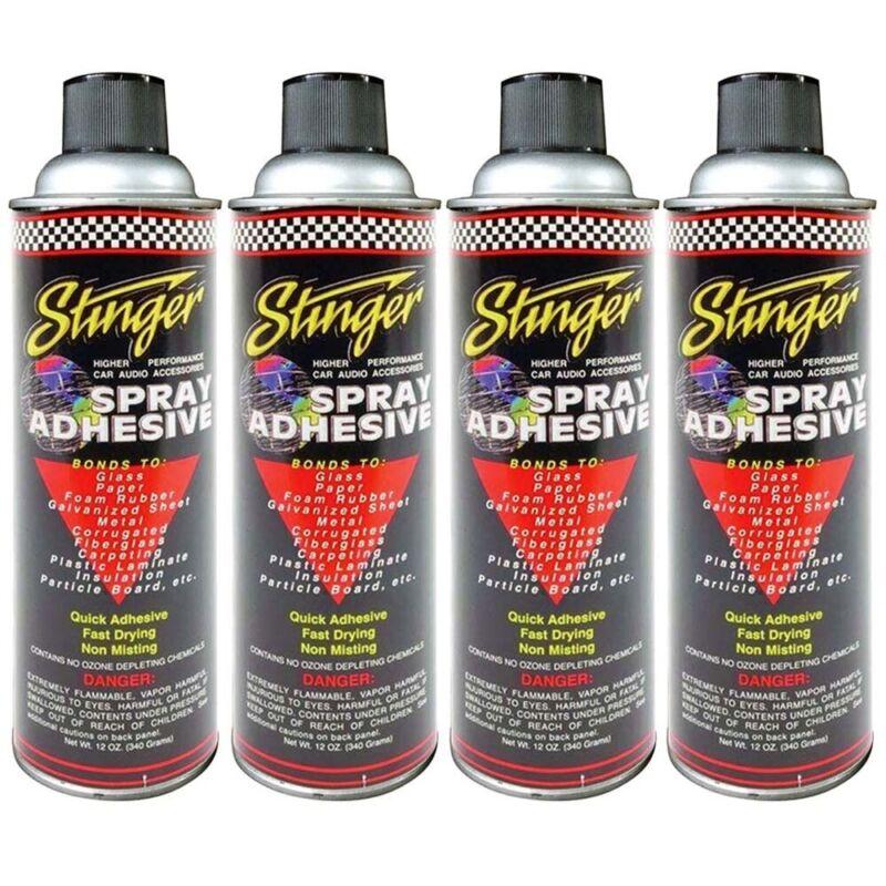 ( Pack of 4 ) New Stinger SAS Adhesive Spray