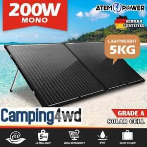 NEW! 200W Folding Solar Panel Kit 12V Mono Caravan Boat battery $289