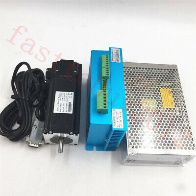 428oz-in Closed Loop Stepper Motor Nema23 3nm Servo Driver 200w Power Supply Kit