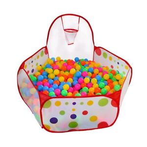 Portable Kids Indoor & Outdoor Play Tent Ball Pit Pool with Basketball Hoop