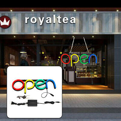 Pvc Board Led Neon Light Open Sign For Bar Balcony Window Cafe Business Shop Usa