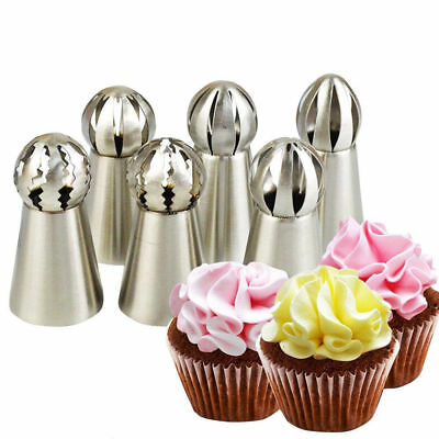 Russian Flower Cake Decor Icing Cream Piping Nozzles Pastry Tips Baking (Cream Piping)