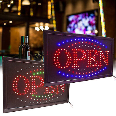 Usa Led Lighted Animated Rectangle Open Store Bar Cafe Restaurant Business Sign
