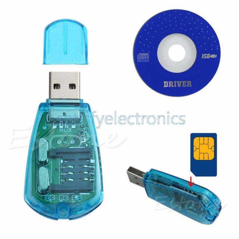 USB Cellphone Standard SIM Card Reader Copy Cloner Writer SMS Backup GSM/CDMA