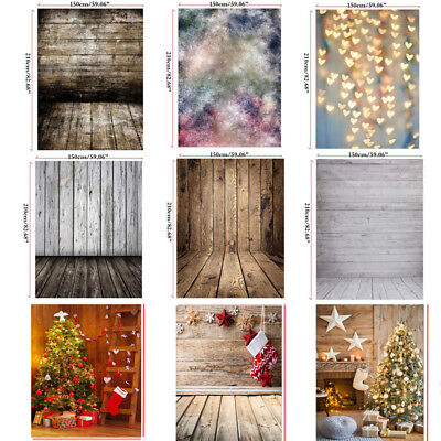 Multi-Type 5x7ft Photography Backdrops Christmas Heart Wood 3x5ft kid Background - Christmas Backdrops
