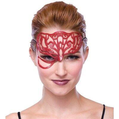 Red Masquerade Ball Filligree Mask](Masquerade Masks Red)