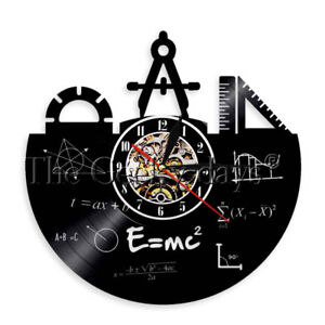 Math Formula Vinyl Record Wall Clock Pythagorean Theorem Wall Clock Teacher Gift