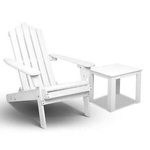 SALE:  New Adirondack Foldable Wood Chair Side Table Set Outdoor Melbourne CBD Melbourne City Preview