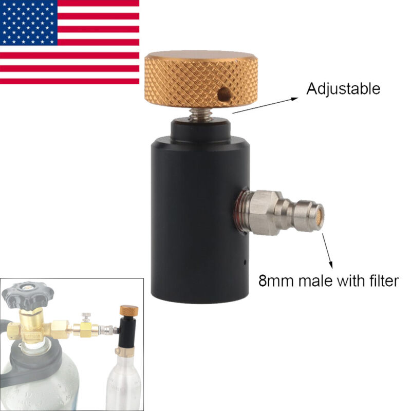 8mm Quick Connector Co2 ASA Refill Adapter for Paintball Tanks Filling Tank US
