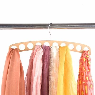 Container Store Wood 10 Scarf Hanger Wooden Scarves Holder Closet Organizer New