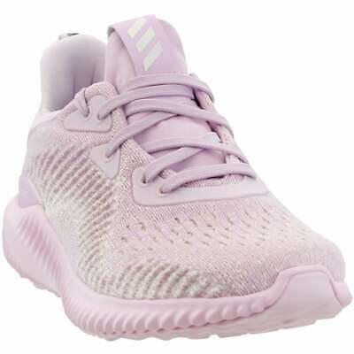 adidas Alphabounce EM Junior  Casual Running  Shoes - Pink - Girls