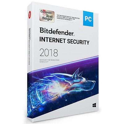 Bitdefender Internet Security 2018 Windows 3 PC 1 Jahr | DOWNLOAD