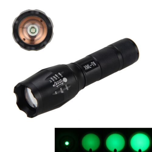 Zoomable 5000lm LED Tactical Focus Flashlight Torch Hunting Light 18650/AAA Lamp