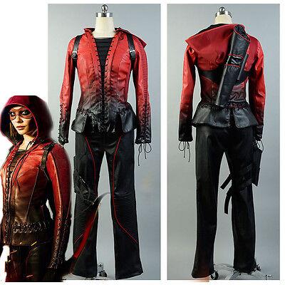 Green Red Arrow Thea Queen Speedy Halloween Cosplay Costume Suit Uniform Outfit](Red Arrow Halloween Costume)