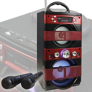 Tragbare Karaoke Musik Anlage USB SD MP3 AUX Radio Bluetooth Lautsprecher Mikro