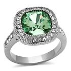 Emerald CZ, Moissanite & Simulated Stone Engagement Rings