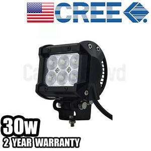 """4Inch 30W CREE LED Light Lamp Boat Flood Bar Offroad Work 4WD 4"""" Wangara Wanneroo Area Preview"""
