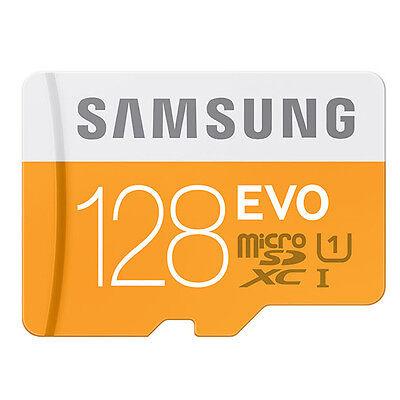 Samsung EVO 128GB Class 10 Micro SD Card Micro SDXC U1 Memory Card MB-MP128DA