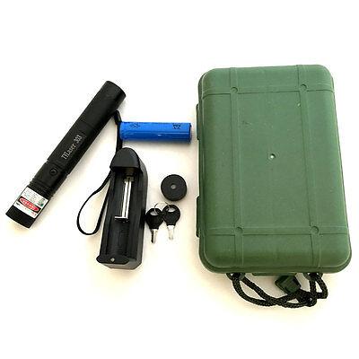 532nm 5mW Green Laser Pointer Light Pen Lazer Beam High Power + Battery +Charger