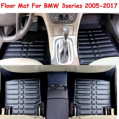 FLY5D Car Floor Mat Floor Liner Carpet Dust Waterproof For BMW 3series 2005 2017