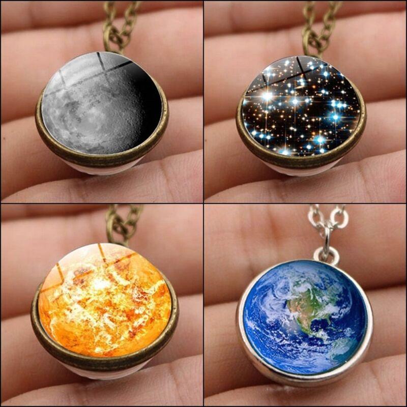 Jewellery - Galaxy Astronomy Pendant Earth /sun/moon Solar System Necklace Jewelry