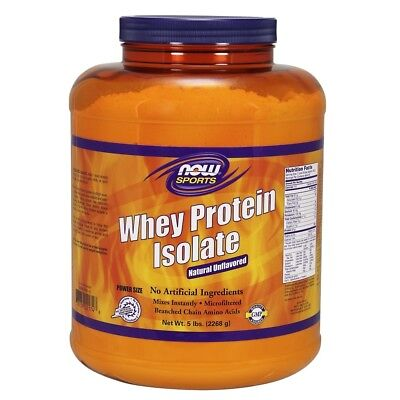 NOW Foods Unflavored Whey Protein Isolate - 5 lbs