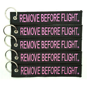 5-Pack-Remove-Before-Flight-Key-Chain-Black-Pink-aviation-truck-motorcycle