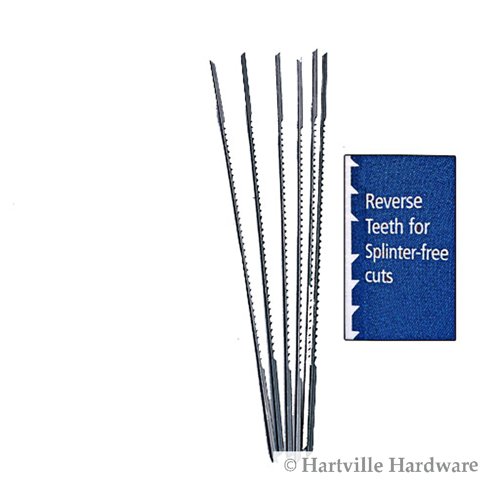 "4 Dozen Precision Skip Tooth Scroll Saw Blades Reverse Fast Cut 5"" Size 3"